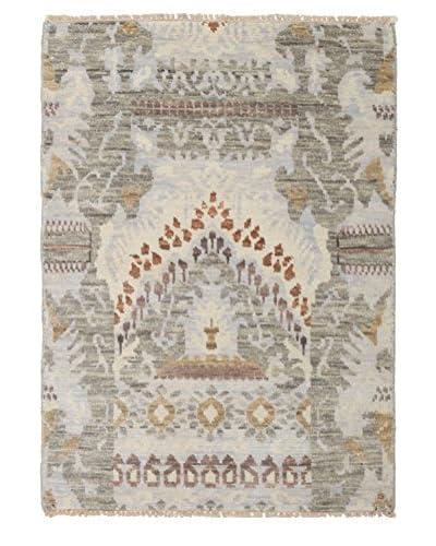 Darya Rugs Ikat Oriental Rug, Ivory, 3' 2 x 4' 10