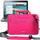 Evecase Multi-functional Neoprene Messenger Case Tote Bag for Acer C720P / C720 / C710 / C7 11.6-Inch Chromebook, Aspire P3, Aspire V5, Aspire S7 and more - Hot Pink