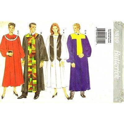 Mens Choir Church Graduation Robe Collar Scarf Bust / Chest 30 - 48