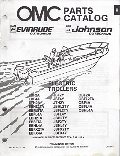 Omc Parts Catalog Evinrude Johnson Outboards Electric Trollers - P/N 433733