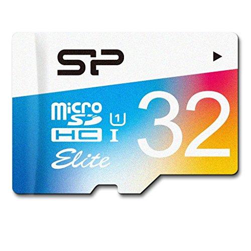 SP シリコンパワー microSDHCカード アダプタ付 32GB UHS-1対応 【最大読込85MB/s】 防水 防塵 耐X線 永久保証 Eliteシリーズ  SP032GBSTHBU1V20SP