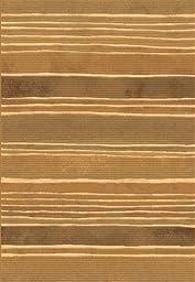 Area Rug, Cream Striped Stain Resistant Carpet, 7\' 10\