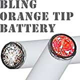 White Crystal Bling Orange Glow Tip NUCIG Spare/Replacement battery with LED or New BLING Crystal Colour Glow Tips Over 35 Colour Combinations for Ecigarette electronic cigarette electric cigarette shisha Hookah