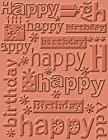 Cuttlebug A2 Embossing Folder, Happy Birthday