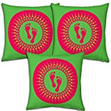 Best Festival Gifts Diwali Christmas New Year Set Of 3 Green-Red Laxmiji Ganeshji Footprints Foot Impressions...