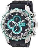 Nautec No Limit Herren-Armbanduhr XL D2X Chronograph Quarz Kautschuk DT QZ/RBSTSTBK-GR