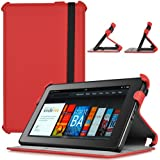 CaseCrown Ace Flip Case Cover (Blazing Red) with Elastic Band Closure for Amazon Kindle Fire