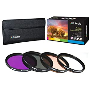 Polaroid Optics 58mm HD Multi Coated Glass 4 Piece Filter Set (UV, CPL, FLD, WARMING)