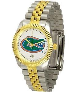 Florida Gators UF NCAA Mens Steel Executive Watch by SunTime