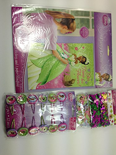 Amscan Dazzling Disney Tiana Enchanted Value Pack Birthday Party Game Activity, Confetti Birthday Party Decorations and Glitter Barrette Birthday Party Hair Accessory. (Tiana Party Supplies compare prices)