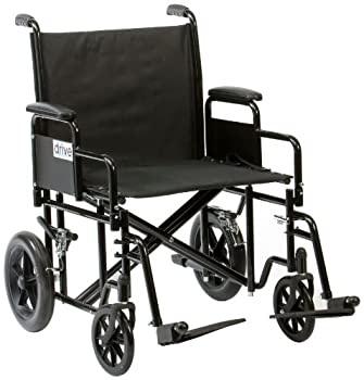 Drive Medical BTR22BLK Steel Bariatric Transport Chair Black from Drive Medical
