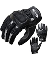Summer Motorcycle Gloves PROANTI® Leather & venting Mesh XS to XXXL Summer Motorbike Gloves