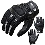 Summer Motorcycle Gloves PROANTI® Leather & venting Mesh M to XXL Summer Motorbike Gloves (M)