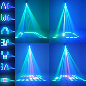 TSSS Magic Pattern Stage Lights Projector 64 RGBW LED Moonflower Lighting for DJ Party Wedding Events Show