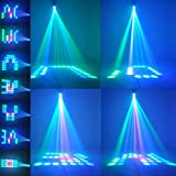 TSSS RGBW Pattern Stage Light 64Leds Auto and Voice-activated Moonflower Projector Lighting for DJ Party Wedding Events Club