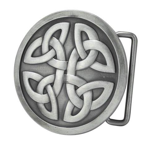Buckle Rage Adult Men Celtic Cross Knot Mystic Circle Belt Buckle Antique Silver