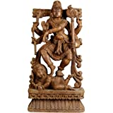 Lord Shiva In Divine Dance - South Indian Temple Wood Carving