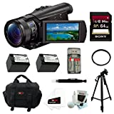 Sony FDR-AX100/B 4K Ultra HD Camcorder (Black) 64 GB FILTER DELUXE ACCESSORY KIT