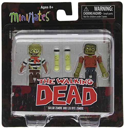 Diamond Select Toys Walking Dead Minimates Series 2: Sailor Zombie and Leg-Bite Zombie , 2-Pack - 1
