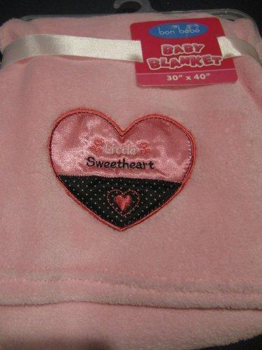 Baby Girl Soft Pink Bon Bebe Blanket - 1
