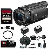Sony FDR-AX53 UHD 4K Handycam Camcorder (Deluxe Bundle)