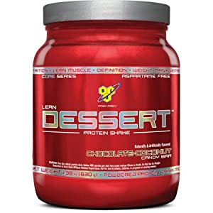 BSN Lean Dessert Protein, Chocolate Coconut Candy Bar, 1.38 Pound