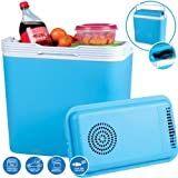 24L COOL BOX COOLER COLD CAR VAN PORTABLE FRIDGE ELECTRIC CARAVAN PICNIC 12V NEW