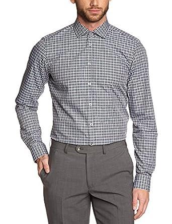 Strellson Premium Herren Slim Fit Businesshemd Jamie, Gr. Kragenweite: 40 cm, Blau (Blau 314)