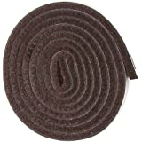 "Self-Stick Heavy Duty Felt Strip Roll for Hard Surfaces (1/2"" x 60""), Brown"