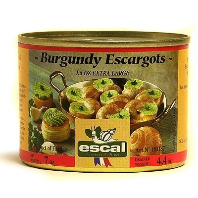 Escal Canned Burgundy Escargot - Escargots de Bourgogne 1.5 Dozen