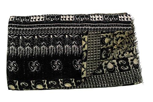 Bufanda mujer GIANMARCO VENTURI motivos verde negro Foulard chal chiffon L1310