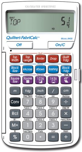 Quilters FabricCalc - Calculated Industries - RC-CI8400 - ISBN: B000KED8GO - ISBN-13: 0098584000301