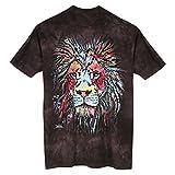 Unisex-Adult Colorful Animal T-Shirt- Lion