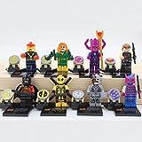 8pcs Super Heroes Minifigures Figures CYBORG NOVA JEAN GREY DEADPOOL HAWKEYE Marvel DC Figures Set Toys Compatible With Lego