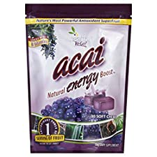 Healthy To Go Energy Boost, Acai, Soft Chews, 30 chews