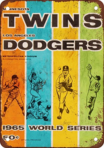 1965-world-series-gemelos-vs-de-los-angeles-dodgers-aspecto-vintage-reproduccion-metal-tin-sign-12-x