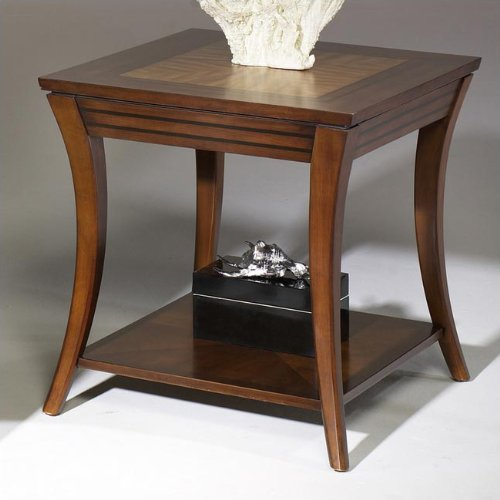 Cheap Hammary T1088220-00 Virgo Rectangular End Table in Medium Brown (T1088220-00)