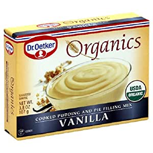 Oetker Organic Vanilla Pudding And Pie Mix, 3.8-Ounces (Pack of 12)