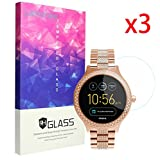 for Fossil Q Venture Screen Protector, Lamshaw 9H Tempered Glass Screen Protector for Fossil Q Venture Smartwatch (3 Pack) (Color: 3 pack)