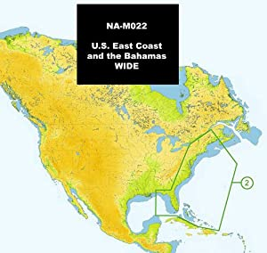 C-Map NA-M022 MAX U.S. East Coast and The Bahamas - SD Card by C-MAP