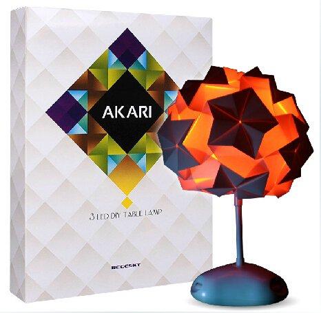 Diy Akari 7 Color Origami Desk Lamp
