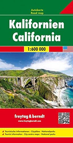 California, mapa de carreteras. Escala 1:600.000. Freytag & Berndt. (Auto karte)