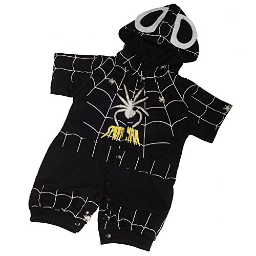 Dressy Daisy Baby Boys' Black Spiderman Hero Superhero Fancy Party Costume Outfit Size 18-24 Months (Real Spiderman Outfit)