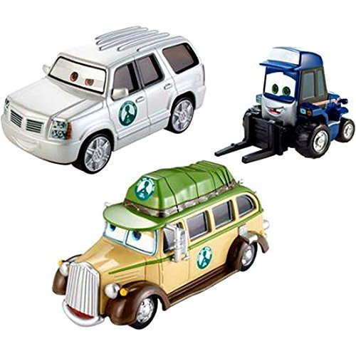 Disney PLANES FIRE & RESCUE Leave the Lodge 3-Pack Exclusive Gift Set - Ol' Jammer, Maru Cad Spinner by Mattel
