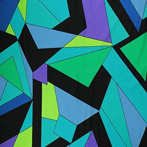Kaleidescope Print Spandex 01 green Fabric (Dance Costume Dressmaker)