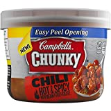 Campbell's Chunky Chili, Hot & Spicy with Bean Firehouse, 15.25 Ounce (Pack of 8)