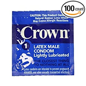 100 Okamoto Crown Condoms, World Famous Super Thin and Sensitive Condom, for Extra Sensation