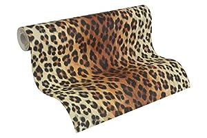 A.S. Création Tapete Dekora Natur, Mustertapete in Leopardenfell-Optik, braun, schwarz, weiß, 663016