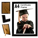 A4 Plain Black Photo Picture Certific...