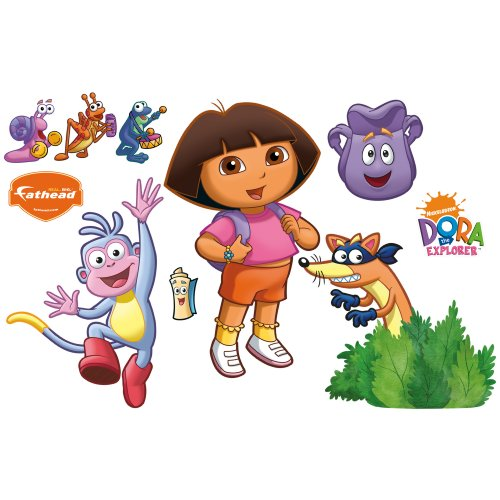 Dora the Explorer Backpack and Boots Wall Decal Fathead Wall Stickers & Murals autotags B002QVWLGC
